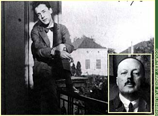 Nabokov, shown in larger photo, spends the summer after his father's death at the home of Svetlana Siewert, his one-time fiancee. Nabokov's father, Vladimir Dmitrievich Nabokov (bottom right) was shot to death in Berlin while trying to stop right-wing Russian assassins from killing politician Pavel Miliukov in March 1922.