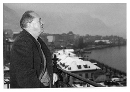 VN on his balcony in Montreux